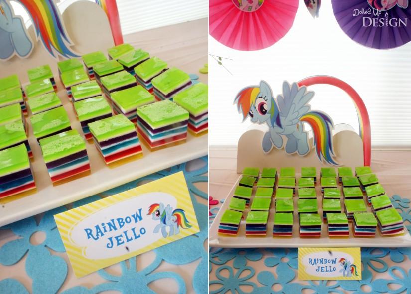 My Little Pony Party Food - Rainbow Jello