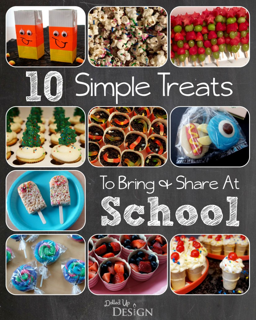 10 Simple Treats to Bring & Share At School