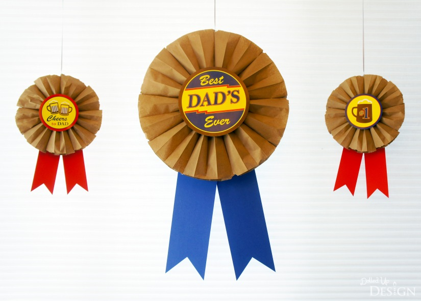 Dad's Root Beer Party_DIY Giant Award Ribbon Decorations