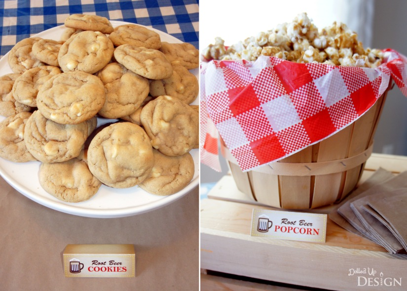 Dad's Root Beer Party_Root Beer Cookies and Caramel Corn