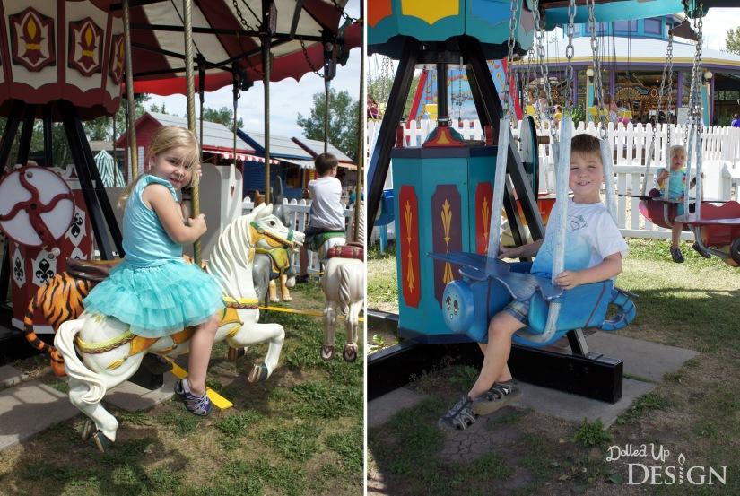 Fort Edmonton Park - Hand-crank Midway Rides