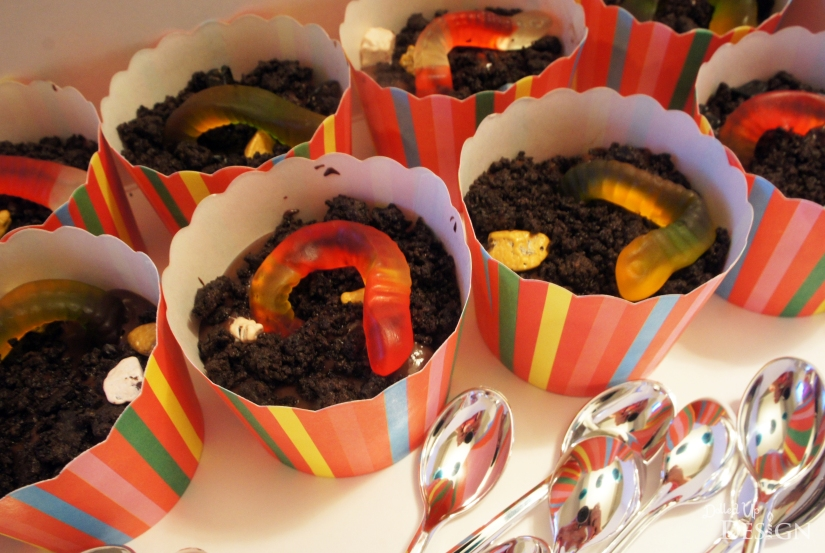 School Treat Ideas - Worms'N'Dirt Cups