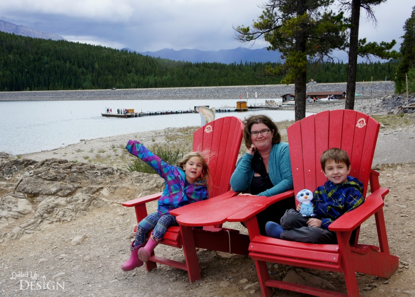 Our Banff Adventure_Day 3 Lake Minnewanka Red Chairs