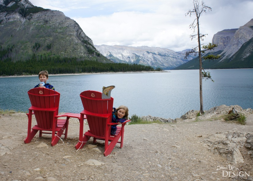 Our Banff Adventure_Day 3 Banff Lake Minnewanka Red Chairs