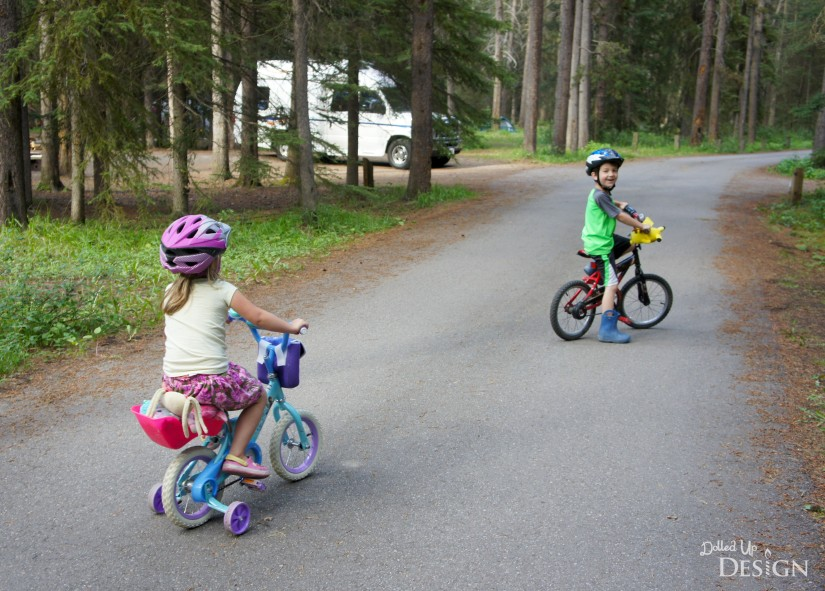 Johnston Canyon Campground Review_Riding Bikes