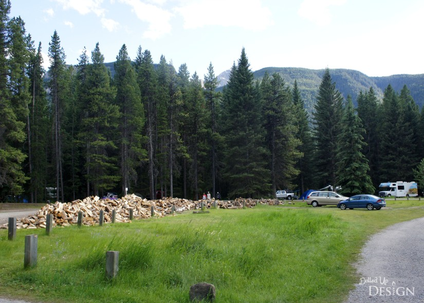 Johnston Canyon Campground Review_Wood Pile
