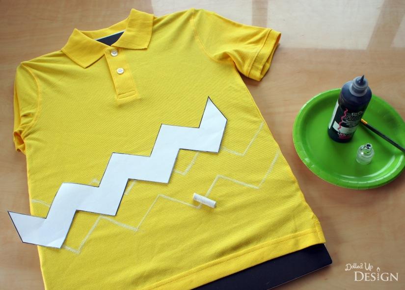 Peanuts DIY Costumes - Charlie Brown Shirt