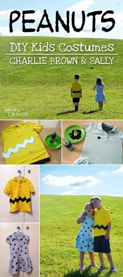 Peanuts DIY Kids Costumes - Charlie Brown and Sally