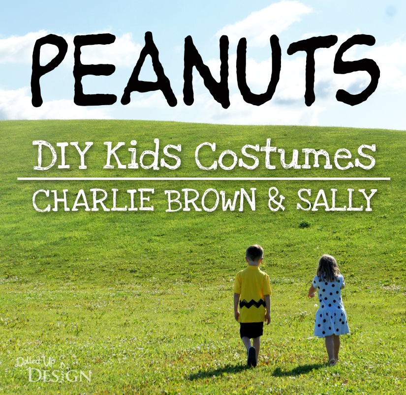 Peanuts DIY Kids Costumes - Charlie Brown and Sally