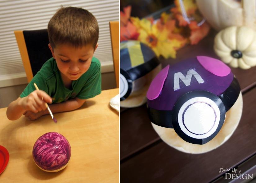 Pokemon Halloween Pumpkins_Painting Masterball