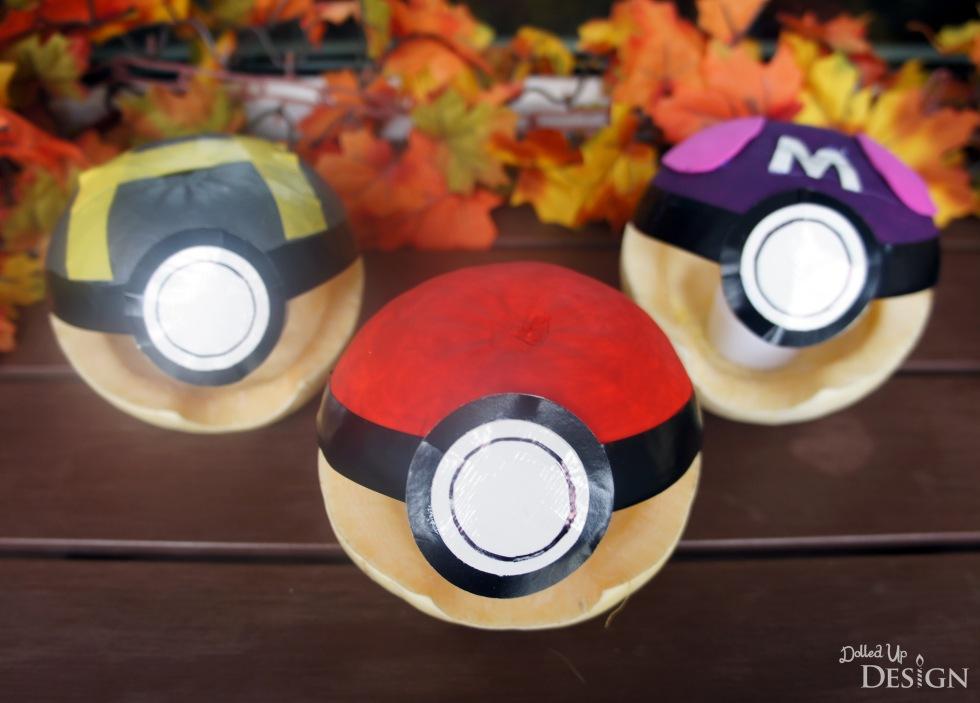 Pokemon Halloween Pumpkins_Pokeball Ultraball Masterball