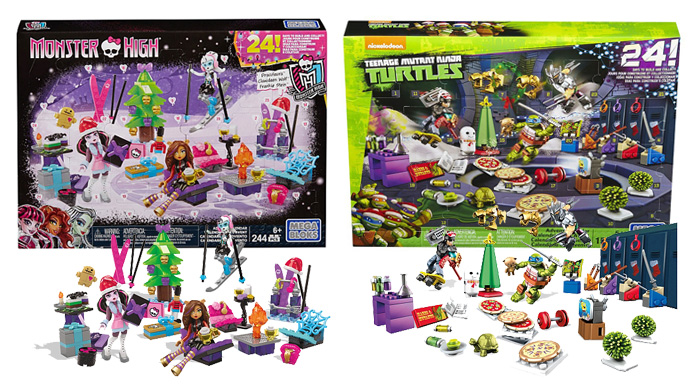 Advent Calendars 2016_Mega Bloks Moster High and Ninja Turtles