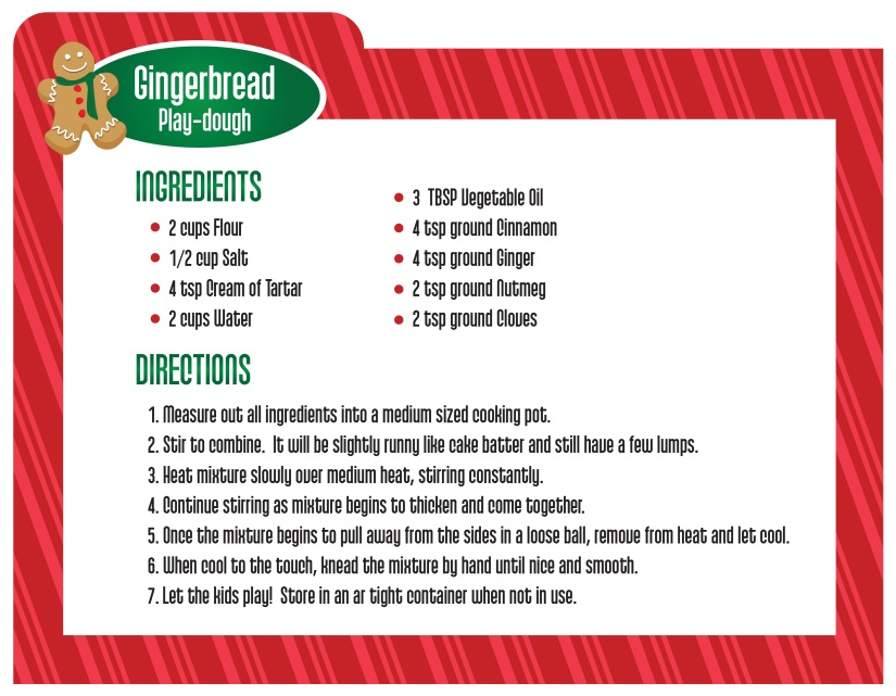 Gingerbread Play-dough_Recipe Card