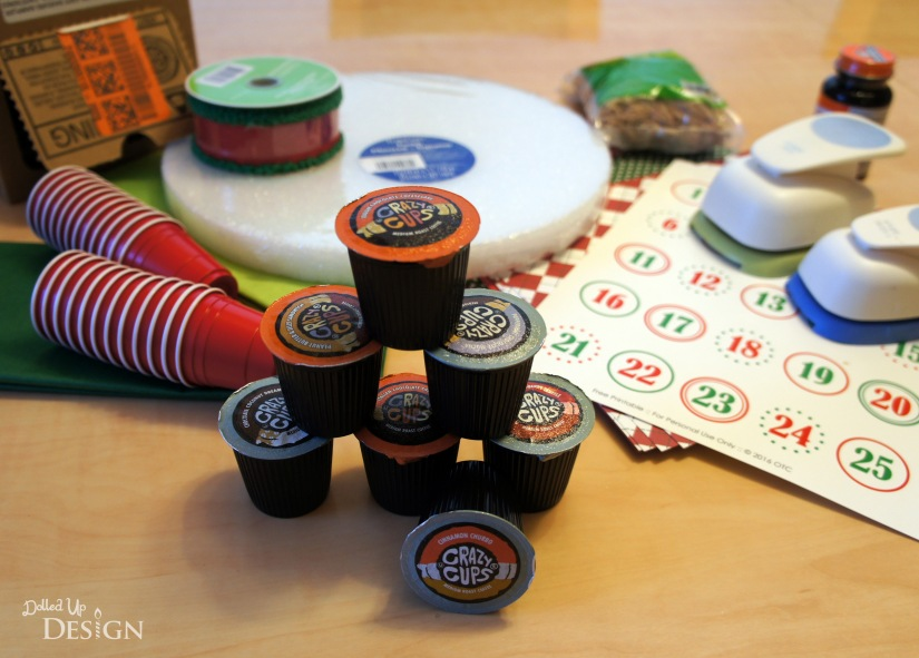 DIY K-cup Advent Wreath_Supplies