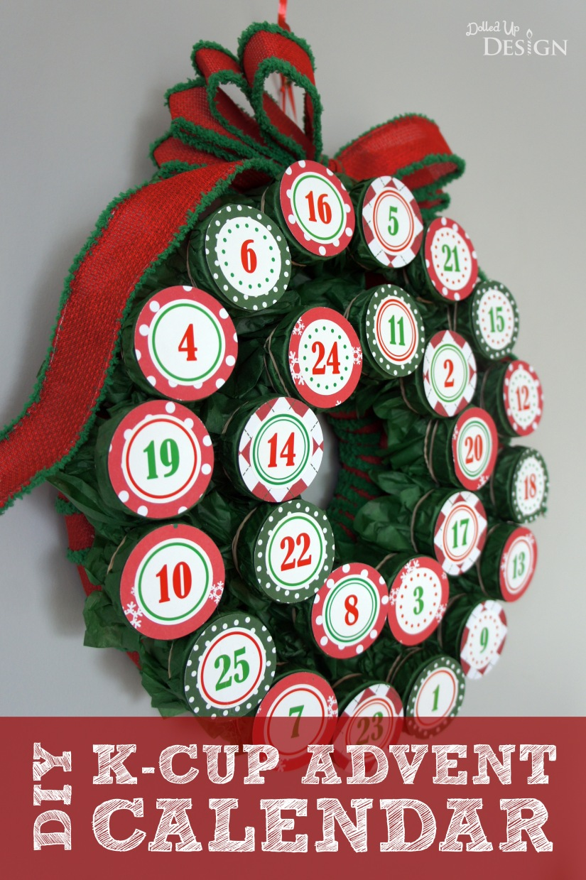 DIY K-cup Advent Wreath
