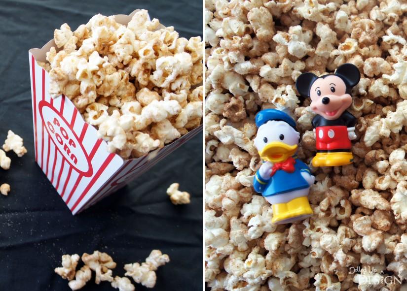 Disney Inspired Treats_Churro Popcorn_National Popcorn Day January 19
