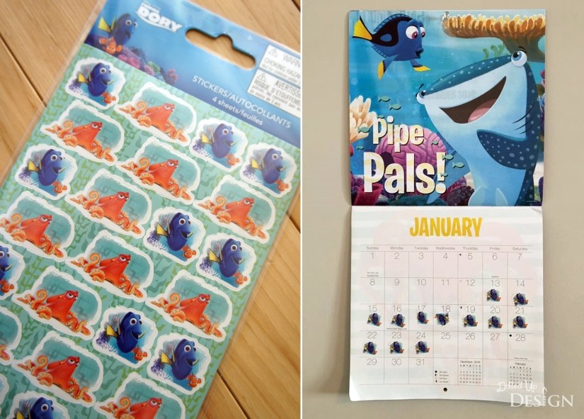 Earning Dollars for Disney _ Dory Sticker Reward Chart