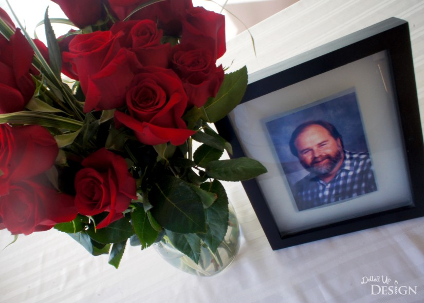 Remembering Dad with Red Roses
