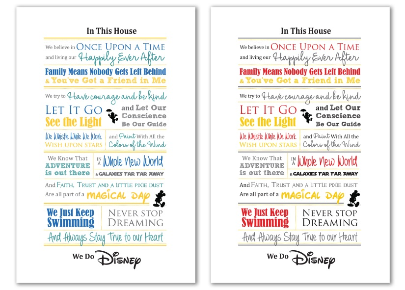 In This House We Do Disney Word Art
