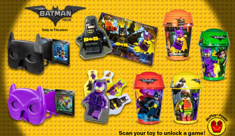 The Lego Batman Movie McDonald's Happy Meal Toys