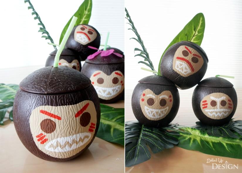 Moana Party_Kakamora DIY Party Cups