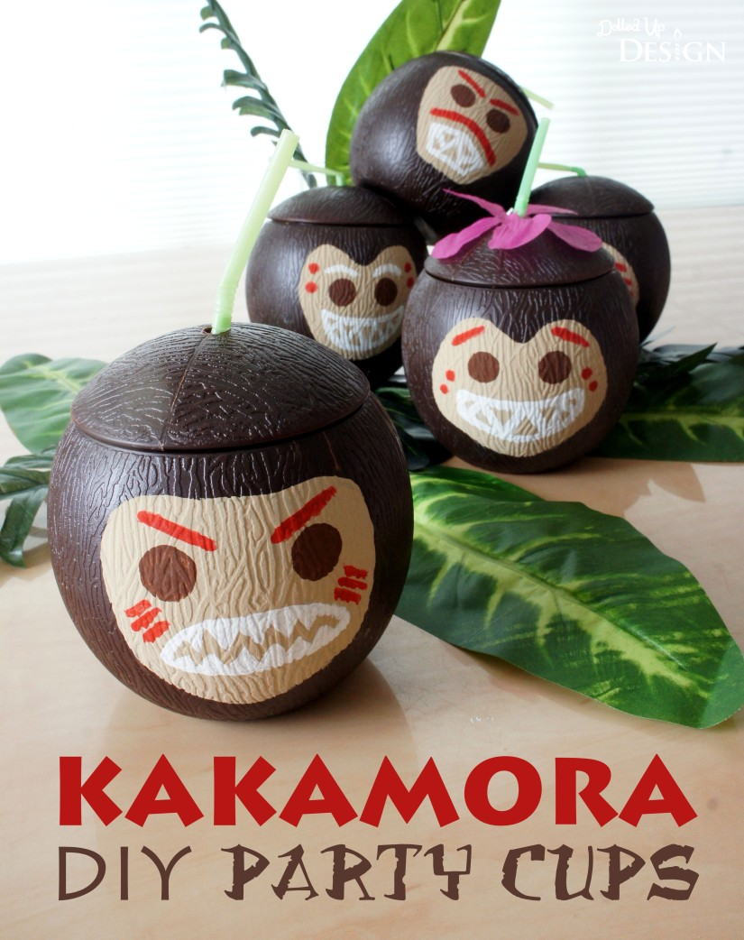 Moana Party_Kakamora DIY Party Cups