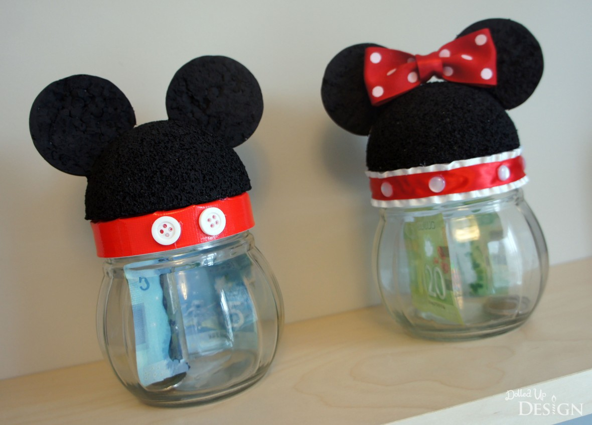 Mickey & Minnie Disney Savings Jars