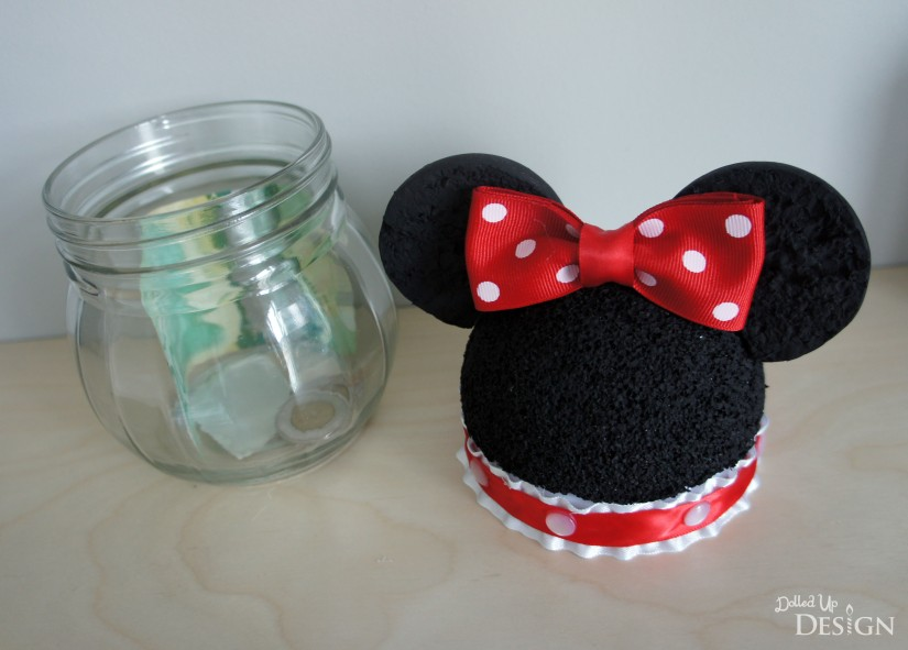 Mickey & Minnie Disney Savings Jars_Lid Off