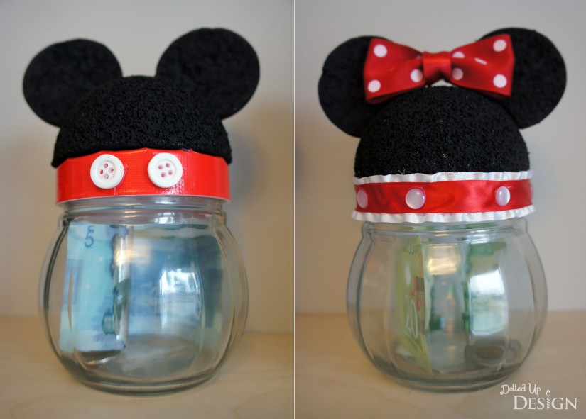 Mickey & Minnie Disney Savings Jars