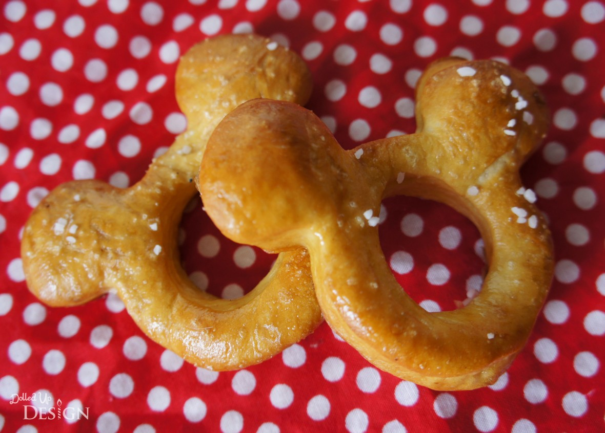 Disney Inspired Treats_Mickey Soft Pretzels with Sweet Cream Filling