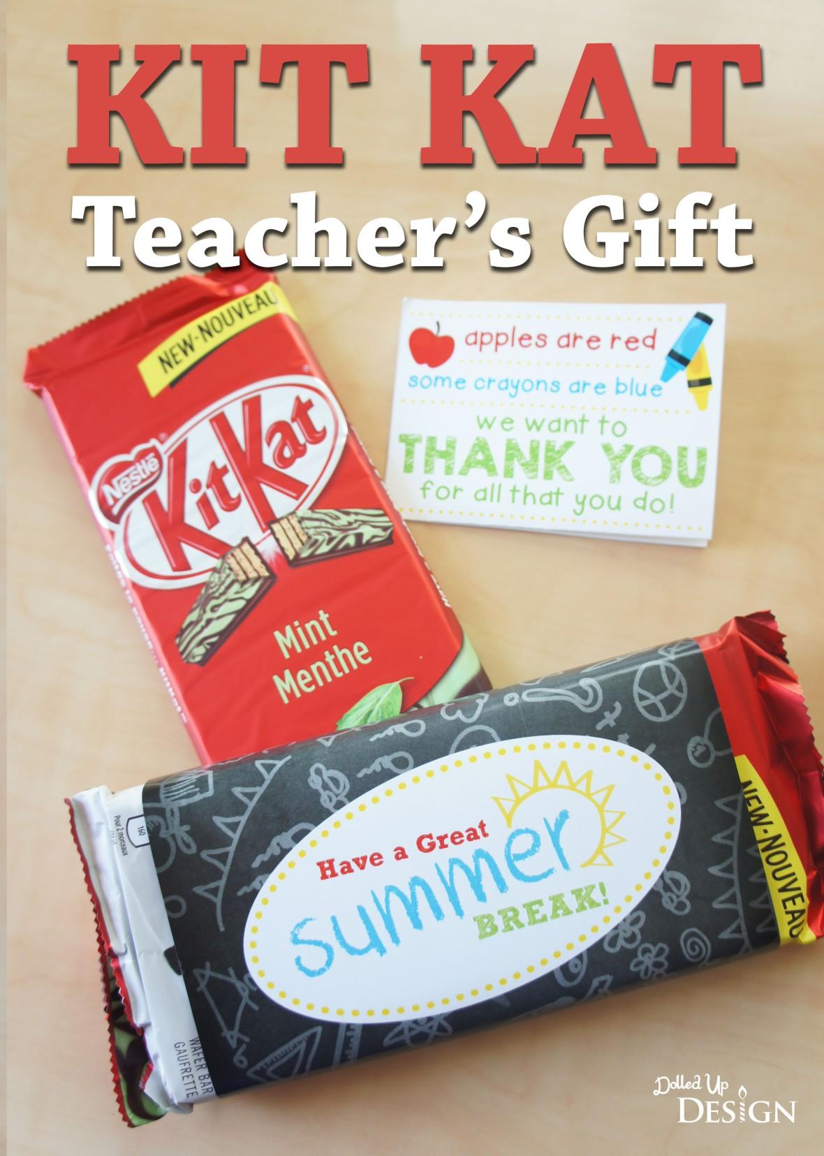 Kit Kat Bar Teacher Gift