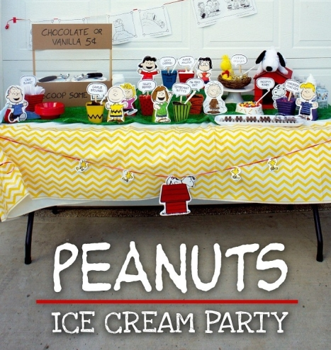 Peanuts Ice Cream Party