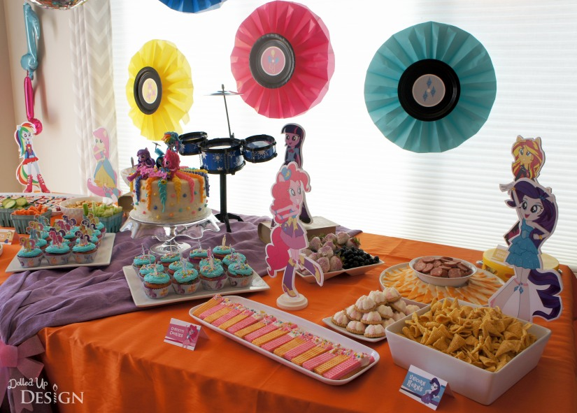 My Little Pony Equestria Girls Party _ Food Table