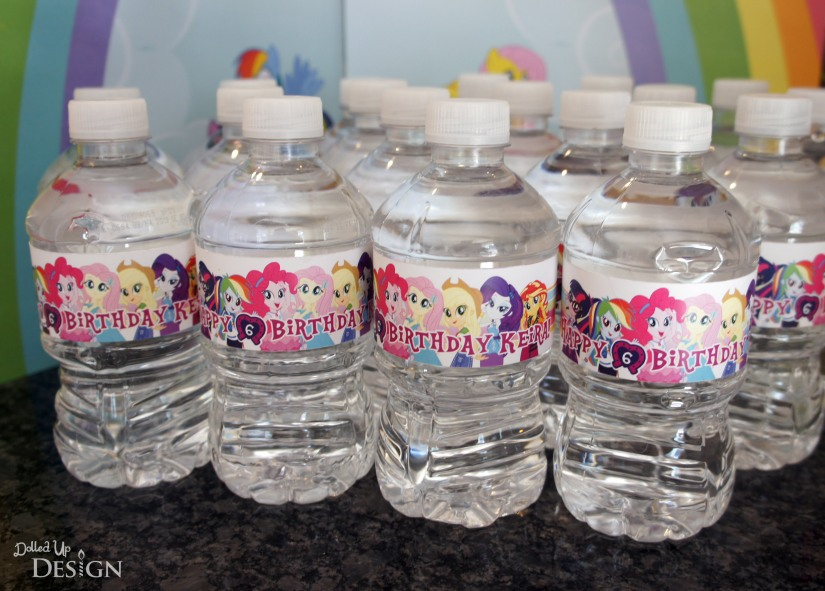 My Little Pony Equestria Girls Party _ Water Bottle Labels