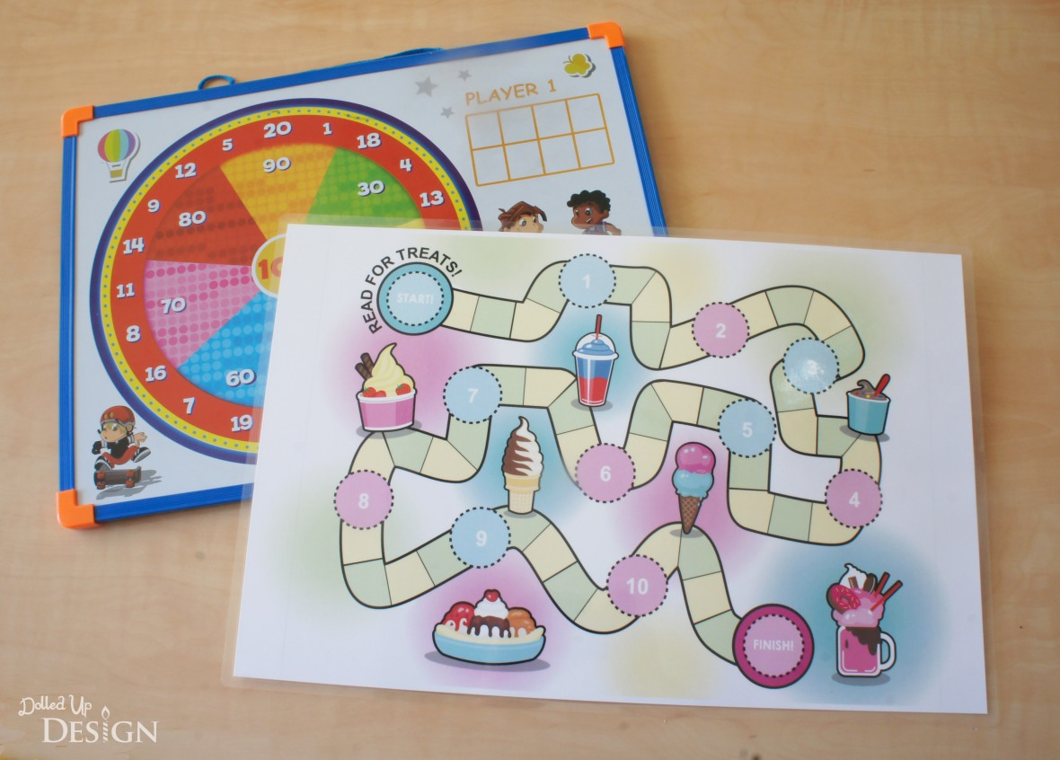 Reading Rewards Game Board_Free Printable