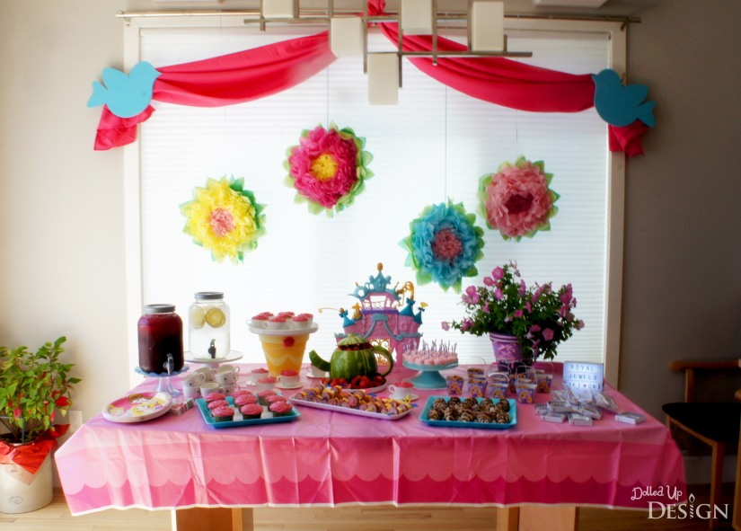 A Princess Tea Party Playdate_Food Table