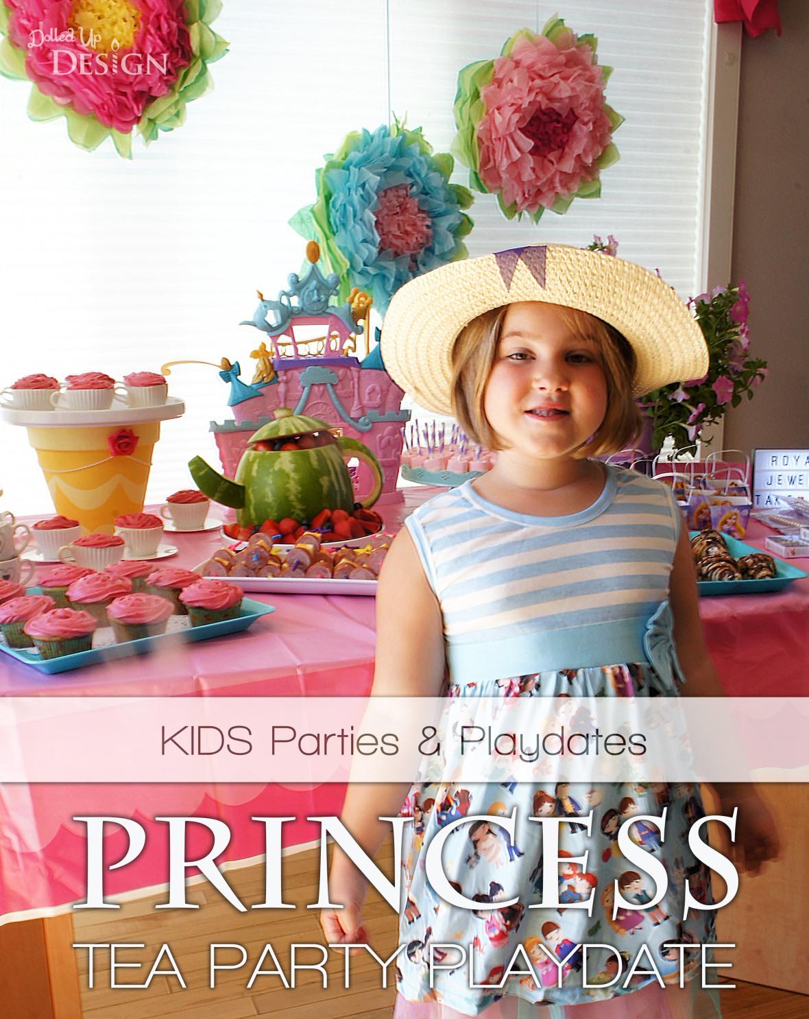 A Princess Tea Party Playdate