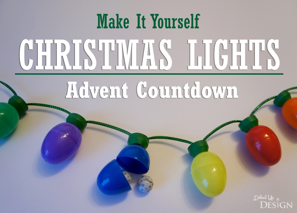 DIY Christmas Lights Advent Countdown with Plastic Easter Eggs
