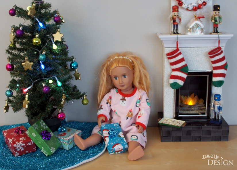 "DIY 18"" Doll Christmas Holiday Scene"