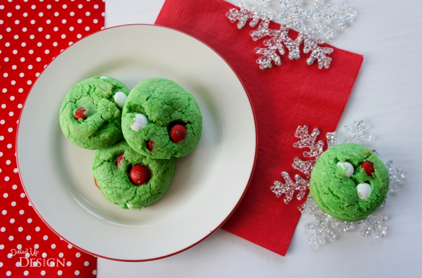 Christmas Cookies_Grinch M&M Cookies