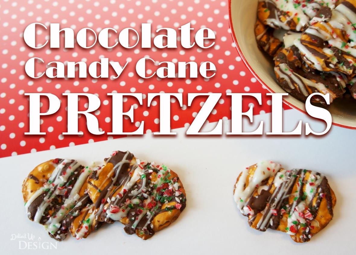 Chocolate Candy Cane Pretzels