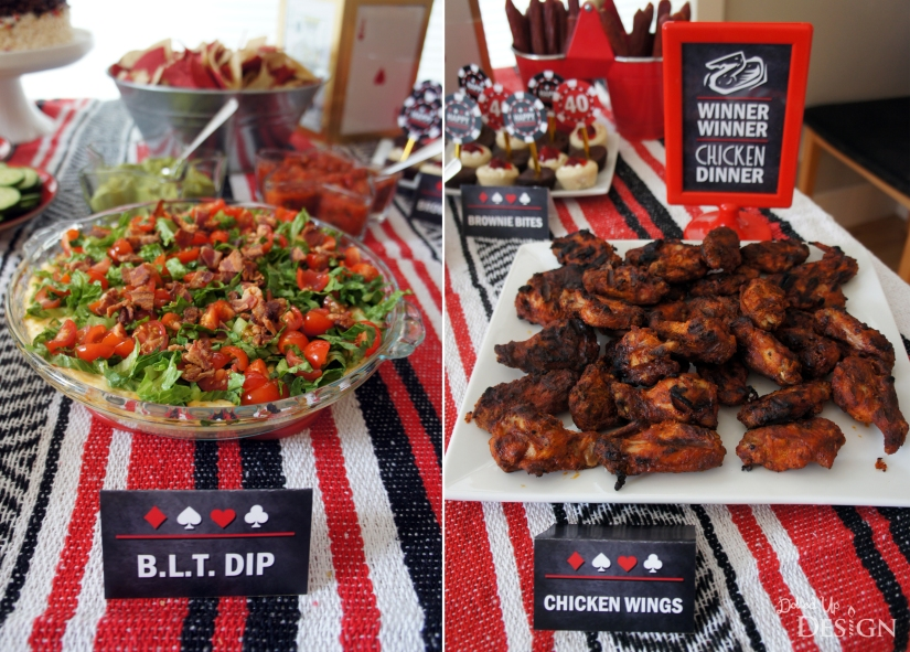 Poker Party_BLT Dip and Wings