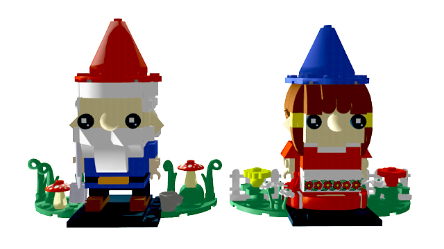Lego IDEAS BrickHeadz Garden Gnomes Chantelle Doll